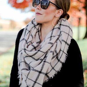 ❗️2 LEFT❗️Plaid Oversized Cashmere Blanket Scarf